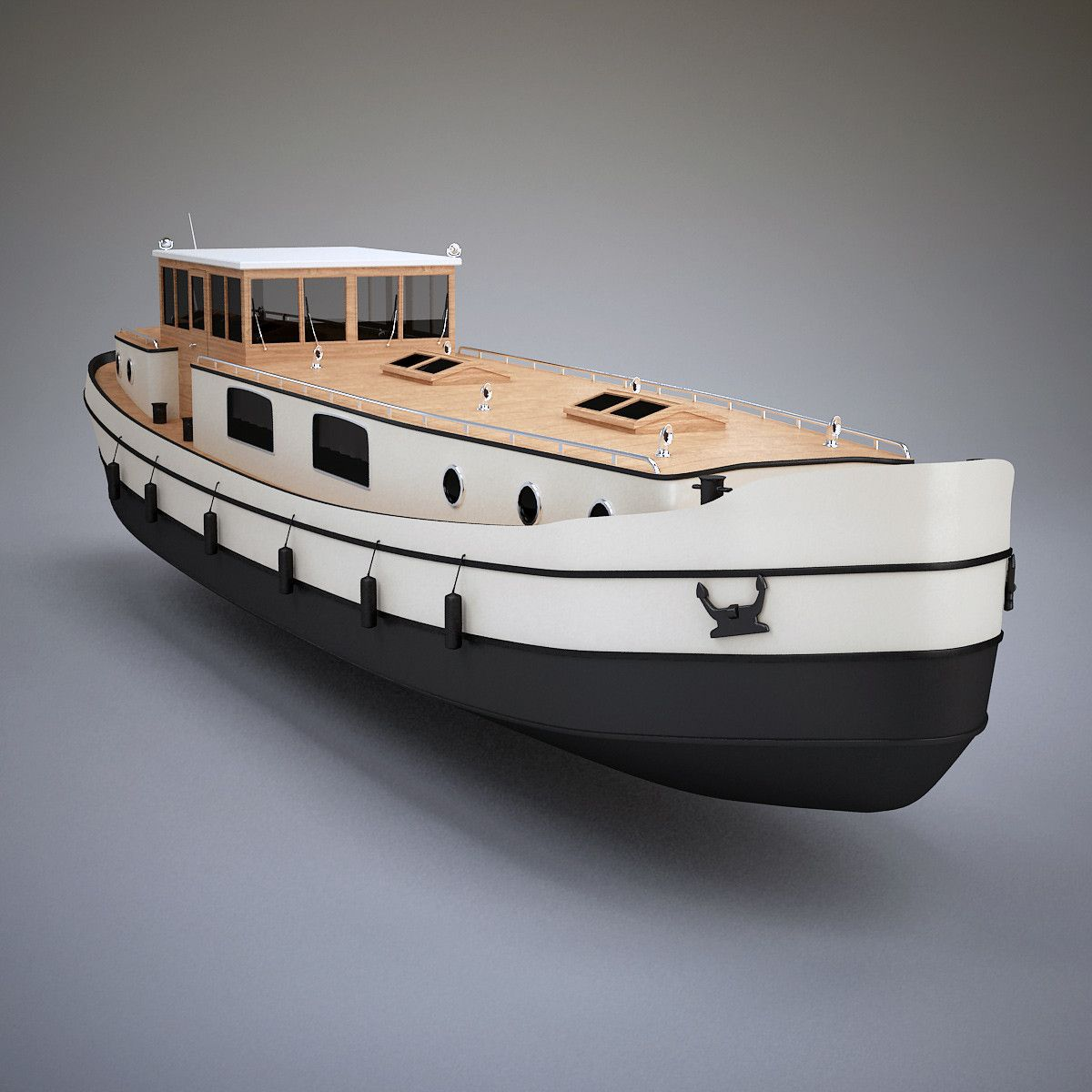 3ds max dutch barge home