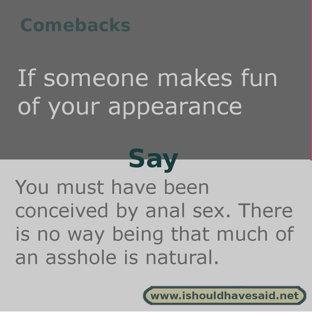 funny insults to say to people