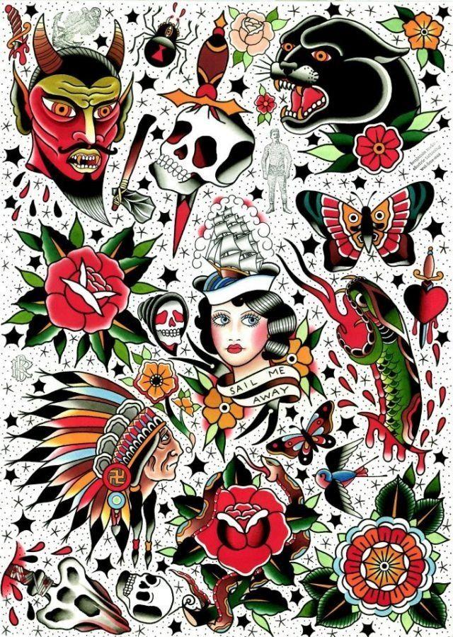 Private Site Old School Tattoo Designs Tattoo Flash Art Traditional Tattoo Art