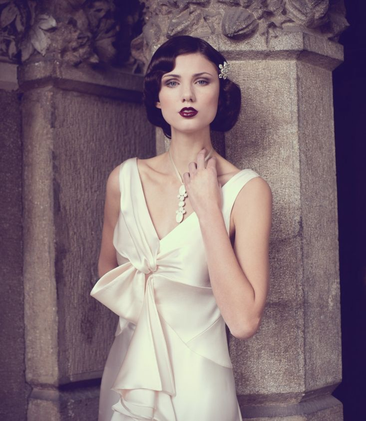 Wedding Fashion 1920 1930s Bride Hair And Makeup Vintage