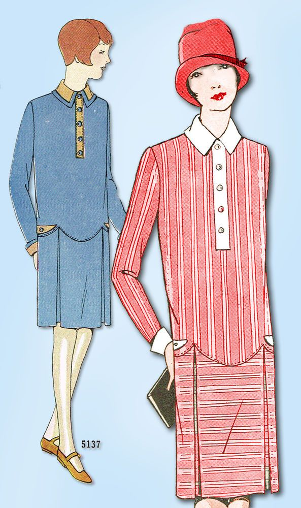 1920s Vintage Ladies Home Journal Sewing Pattern 5137 FF Girls ...