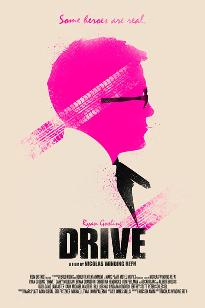Alternative movie poster for Drive by Ian Wilding