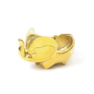 Polished Brass Nut Cracker Jonathan Adler Hands