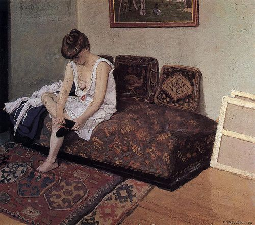 Woman with Black Stockings - Felix Vallotton