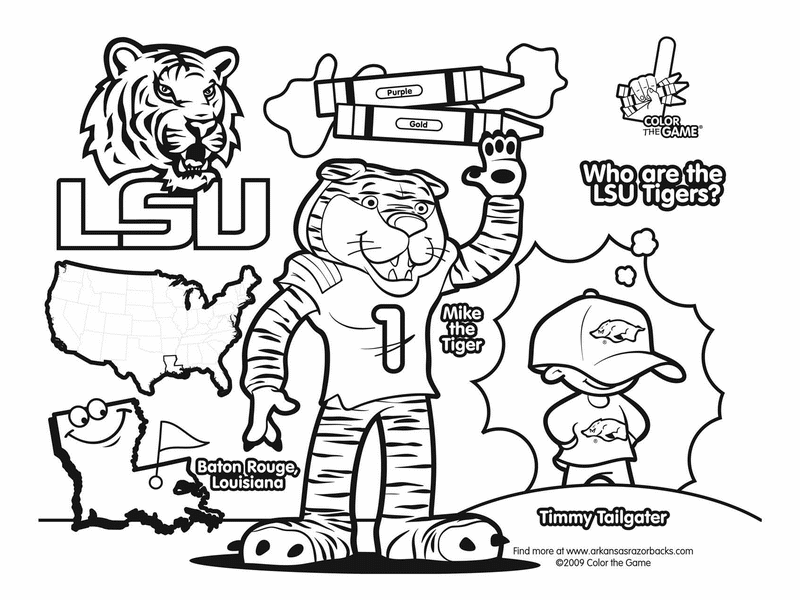 Lsu Tigers College Football Coloring Pages I Love This College Football Coloring Pages