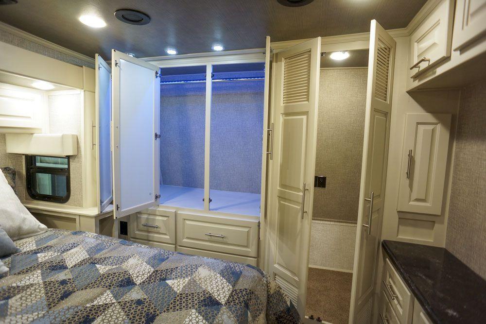Luxury toy hauler bedroom closet Home appliances, Luxury
