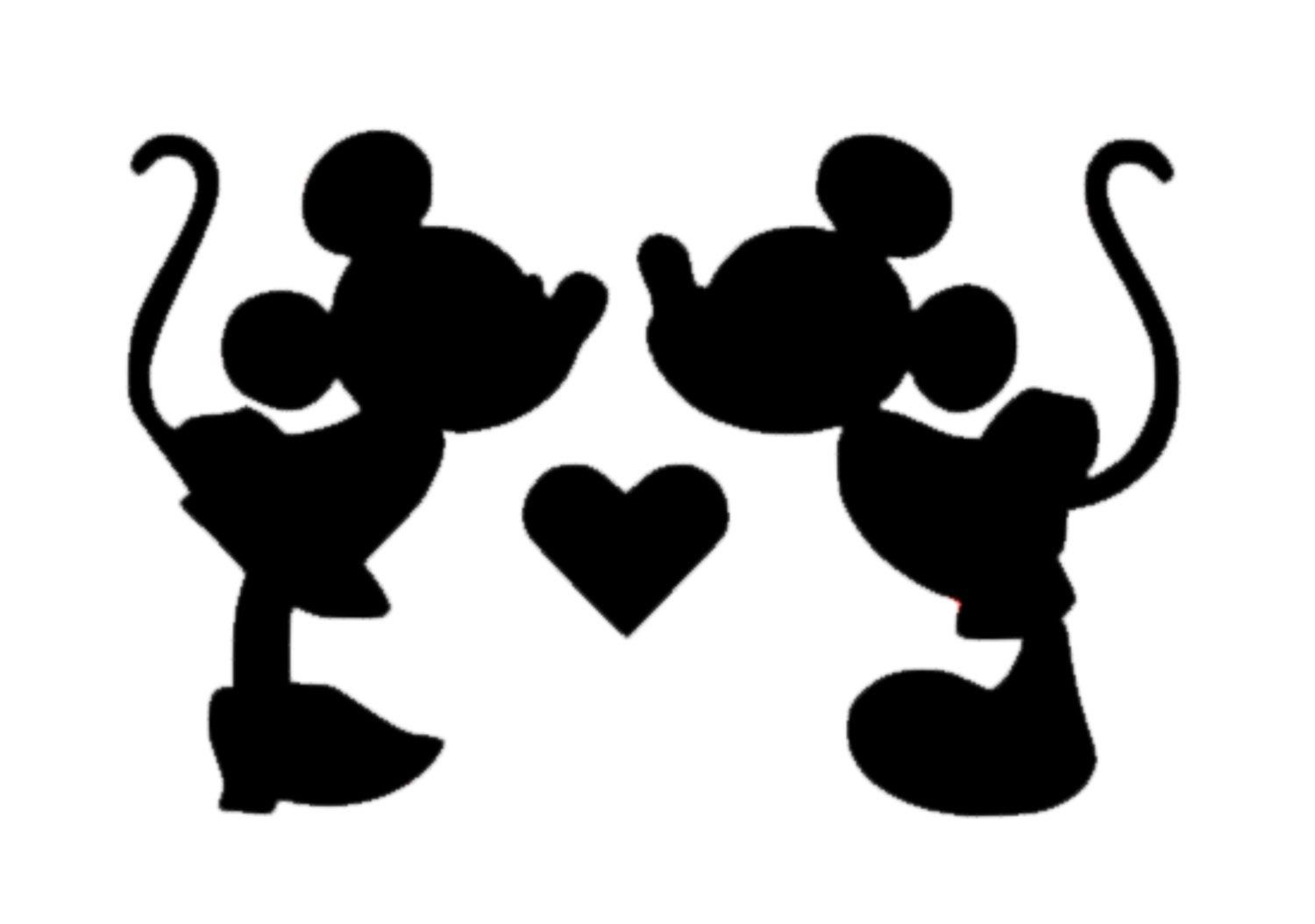 Minnie And Mickey Mouse Kissing Decal Disney Mickey Decal Disney Minnie Mouse Sticker Disney Minnie And Mickey Mouse Love Decal Minnie Mouse Stickers Mickey Mouse Silhouette Minnie Mouse Silhouette [ 1054 x 1500 Pixel ]