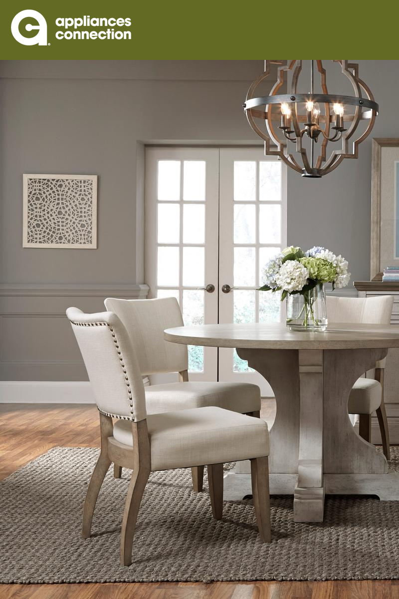 Standard Furniture Dakota Collection 19741 52 Round Dining Table With Pedestal Base Thick Table Top And Dist Furniture Standard Furniture Elegant Dining Room