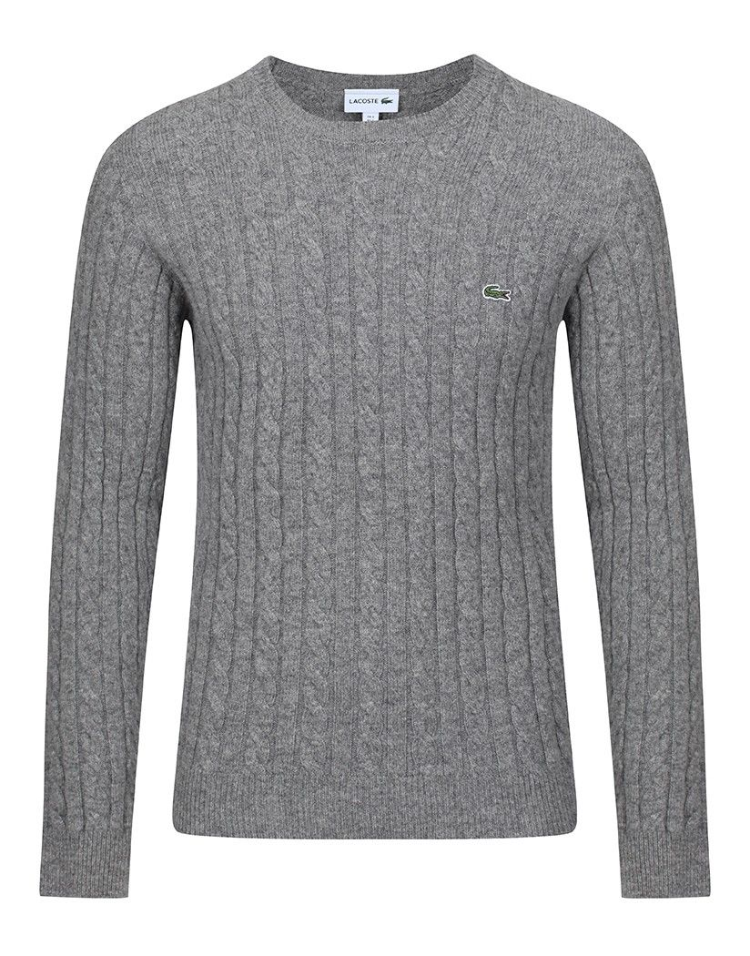 2182c830eee Lacoste Men's Cable Knit Sweater - Stone Chine | Country Attire ...