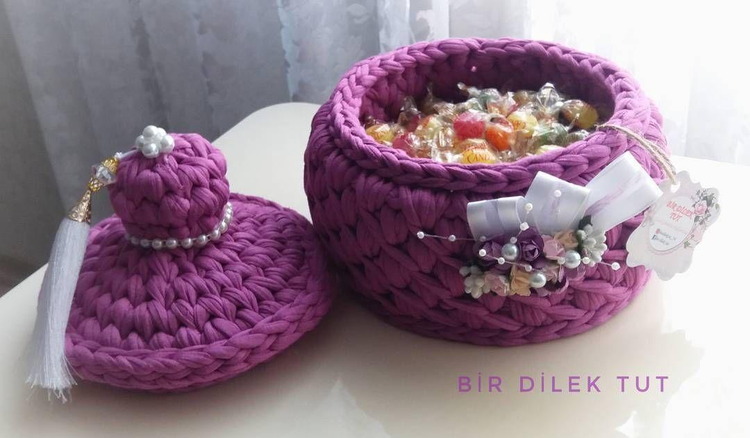 "Dilek🌿 on Instagram: ""huzurlu akşamlarr🌙 . . . #penyeipsepet #penyeip #sepet #supla #evdekorasyon #elemegi #elemeğigöznuru #crochet . 👉@therapy_yarn"""