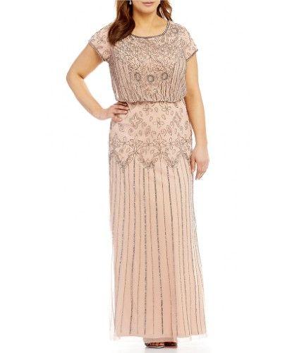 547ed6da91 Adrianna Papell Beaded Blouson Gown