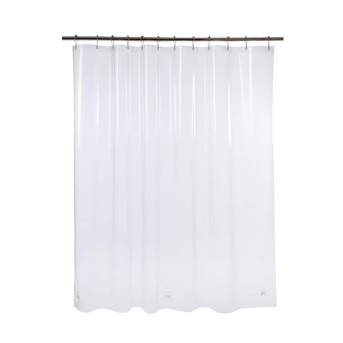 Amazerbath Plastic Shower Curtain 72 Quot W X 65 Quot H Eva 8g Thick Bathroom Shower Curtains No Smell With H Shower Curtain Plastic Shower Curtain Curtains