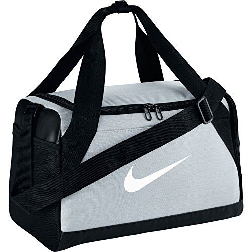 Nike Brasilia Training Duffel Bag Pure Platinum Black White Extra Small