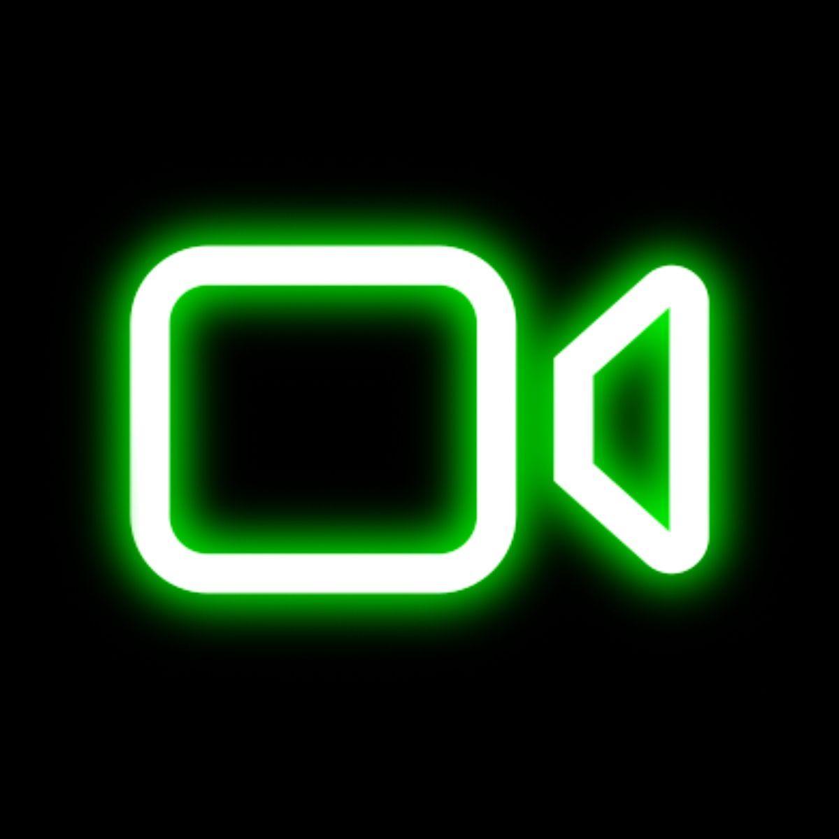 FaceTime neon icon