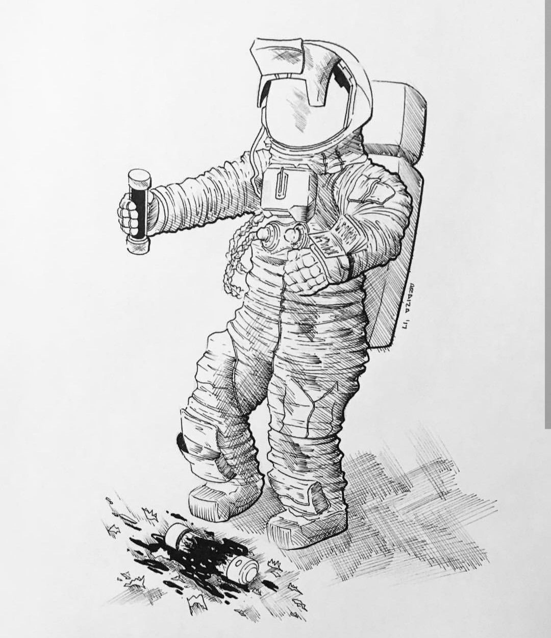 Astronaut drawing Instagram artwoonz draw draws