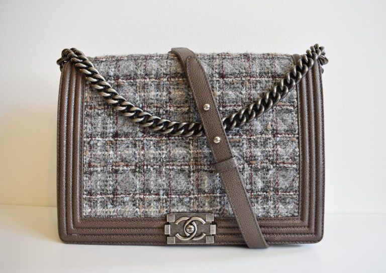 8753c2d42e71 Chanel Limited Edition Tweed Large Boy Bag | Bags Available To Rent ...