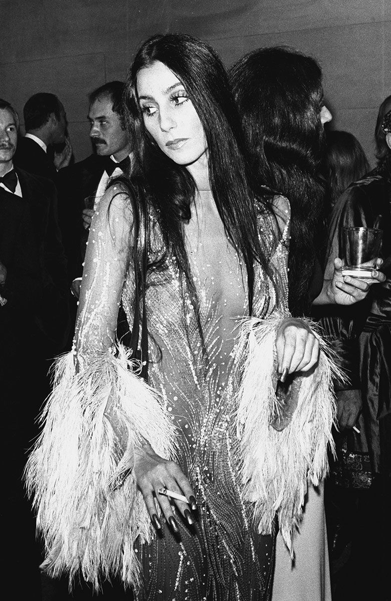 1970s cher hair and a high wattage party dress our