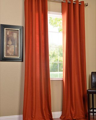 EFF Rusty Faux Cotton Cotenza Curtain Panel from Overstock.com | BHG.com Shop