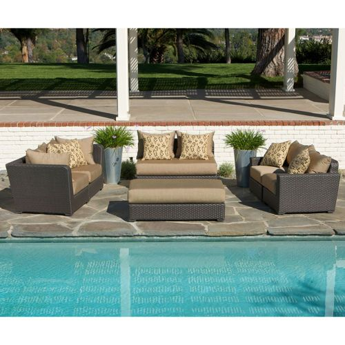 Endura 6 Piece Patio Modular Deep Seating Sectional