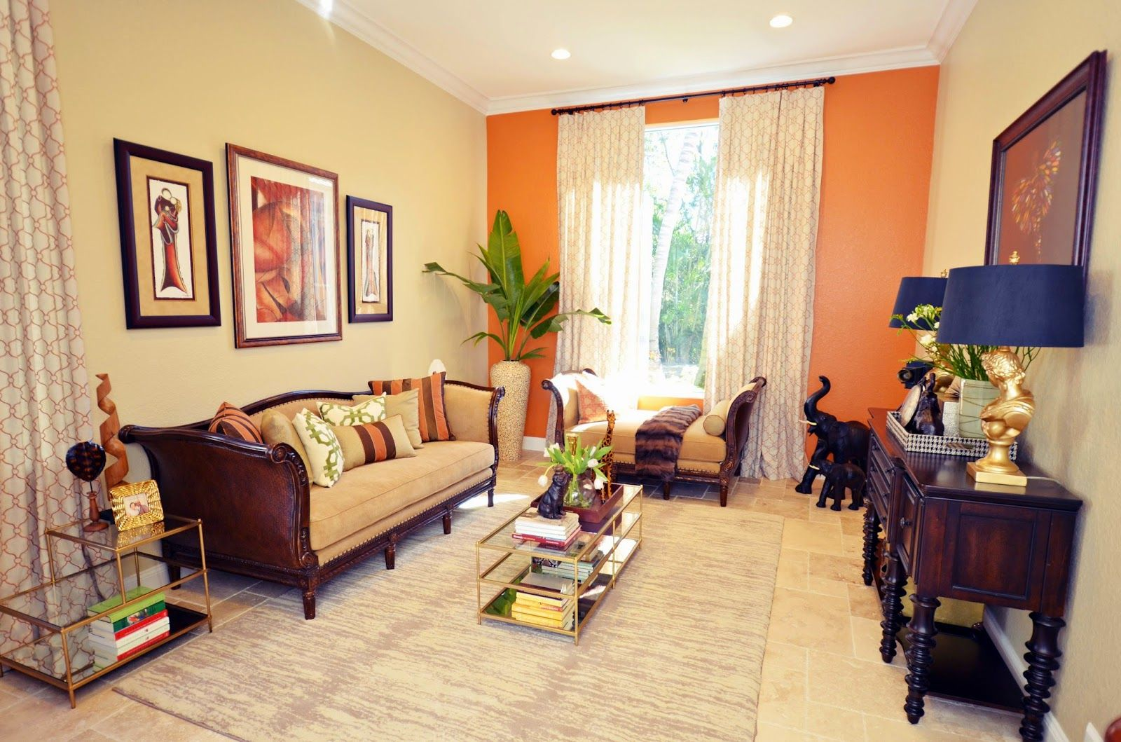 Livelaughdecorate Living Room Orange Accent Walls In Living Room Home Decor