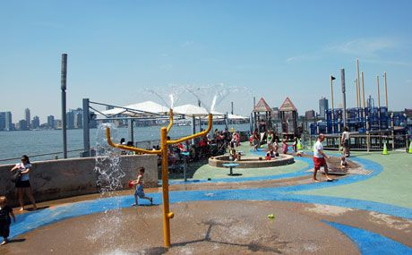 Chelsea Waterside Playground Water Features Nyc Park River Park