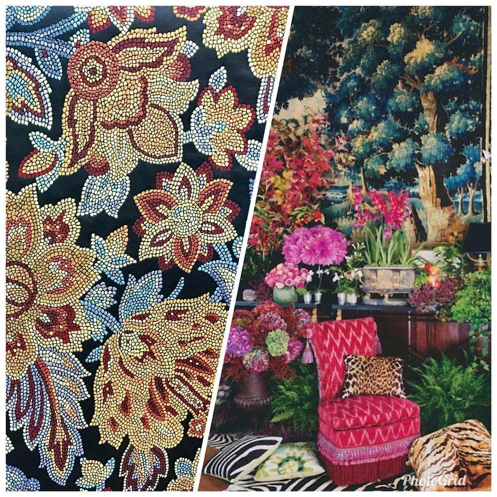 Designer Brocade Satin Jacquard Fabric In A Beautiful Black And
