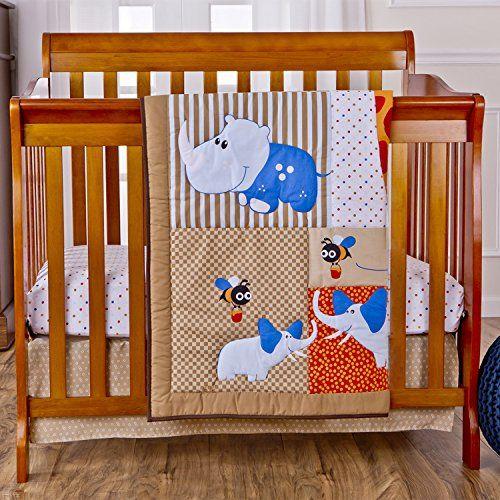 Dream On Me Jungle Babies Reversible 3 Piece Portable Crib Set Pastel Dream On Me Http Www Amazon Ca D Portable Crib Portable Crib Bedding Crib Bedding Sets