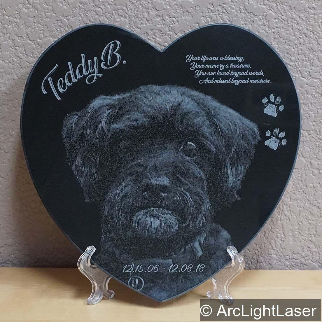 Heart Shaped Pet Memorial Laser Engraved Black Marble Custom Pet Memorial Pet Memorials Your Pet Pet Photographer