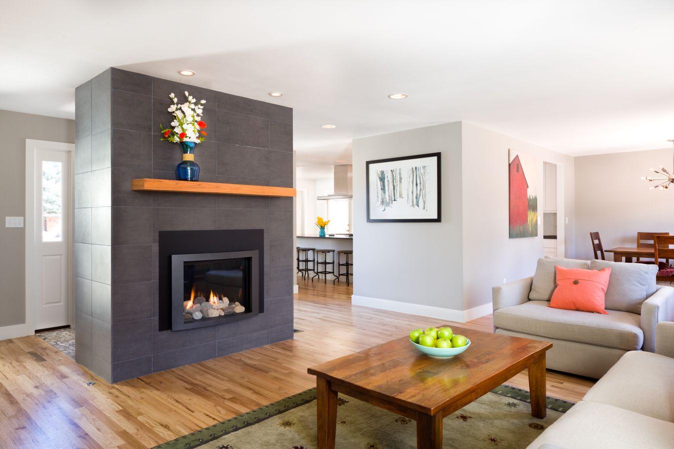 Contemporary Ranch - Living Room Overall - Melton Design ...