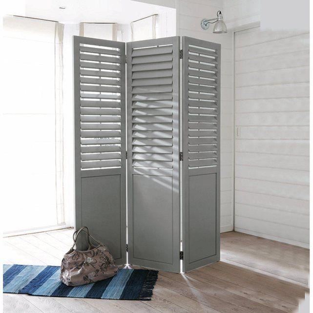 paravent persiennes lamelles orientables aima la redoute interieurs style bord de mer. Black Bedroom Furniture Sets. Home Design Ideas