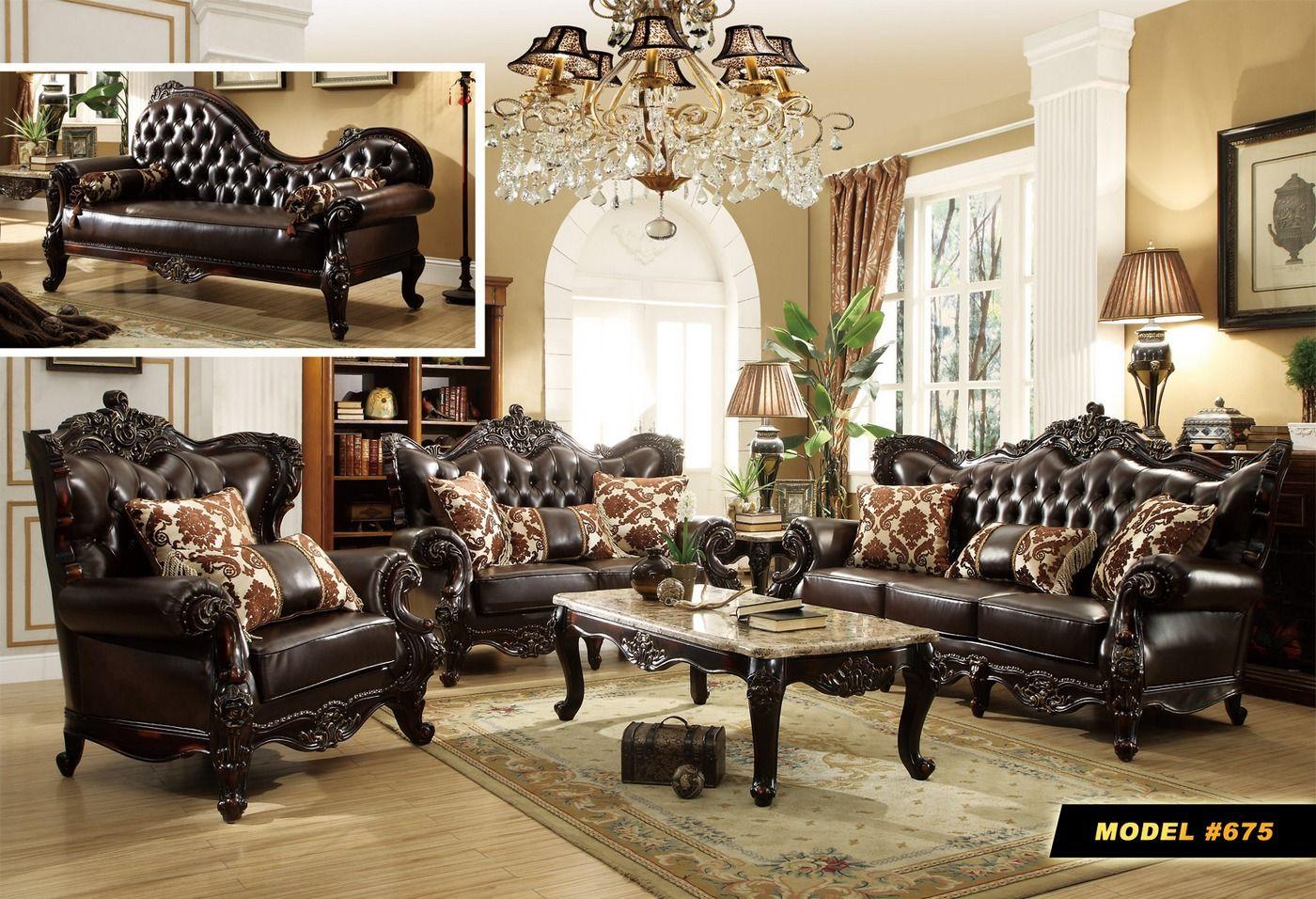 Best Barcelona Dark Brown Tufted Leather Sofa Loveseat Set 640 x 480
