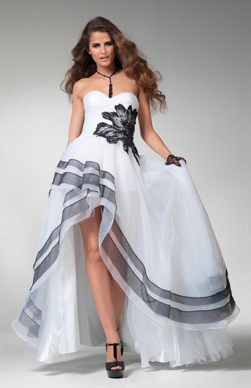 Vestido de quince blanco y negro