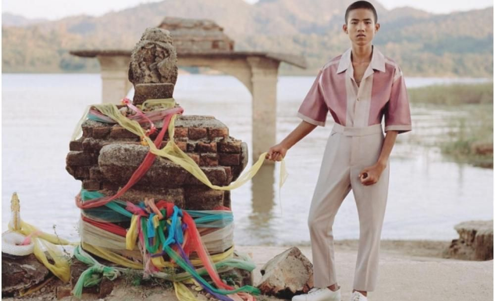 This Thai student made his high fashion debut in Louis Vuitton's latest spread for GQ Germany