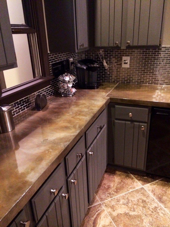 24 Inspiration Kitchen Concrete Countertop Ideas ...