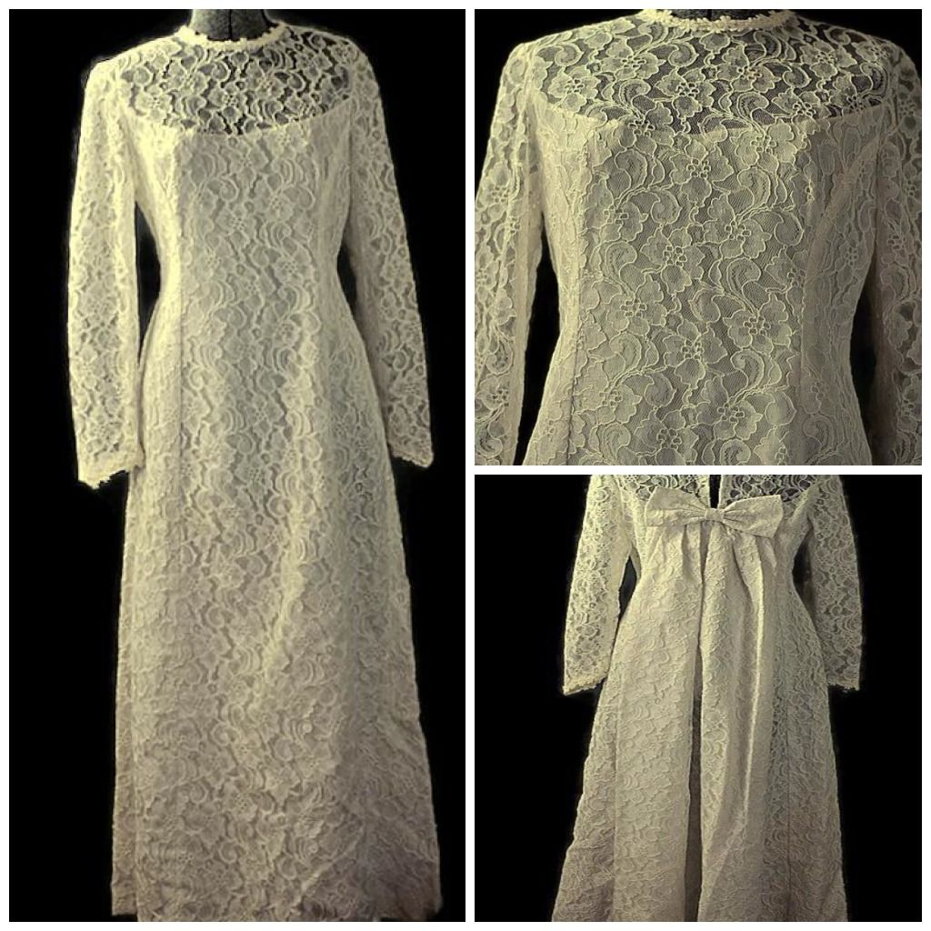 1960 wedding dresses  Audrey Lace Dream White Wedding Gown Vintage  On Sale Coupon