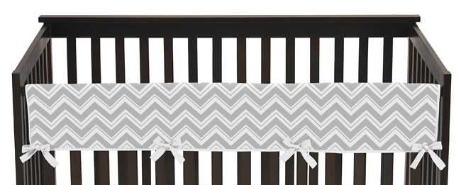 Grey And White Chevron Baby Crib Long Rail Guard Cover For Pink Zig Zag Collection Girl Cribs Crib Rail Crib Rail Guard