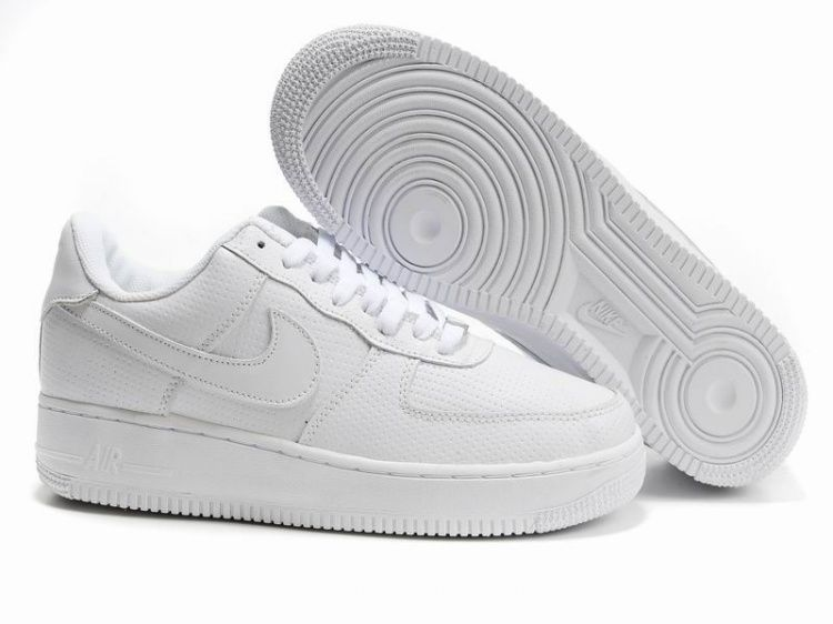 new product 00161 be911 Herren Alle Weiß Nike Air Force 1 25th Low Schuhe 28504