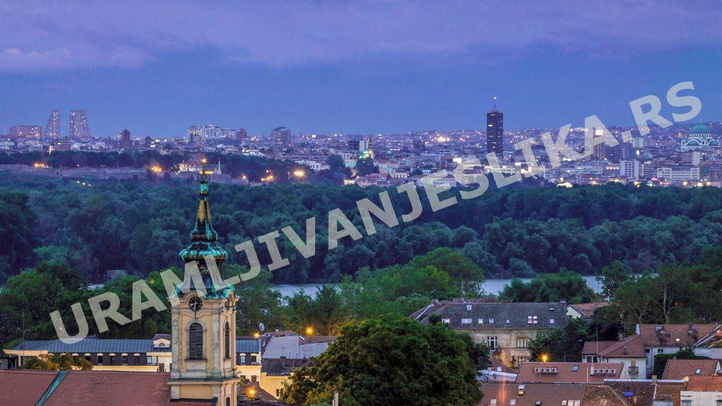 Slike I Posteri Beograda Digitalna štampa Na Platnu San