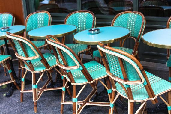 Delicieux Paris Photography   Mint Green Cafe Chairs In Montmartre   Paris Cafe, Mint  Green Wall Art, Rue Des Abbesses, Kitchen Wall Art