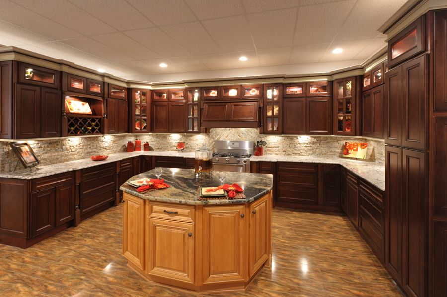 Best Faircrest York Coffee Kitchen Cabinets With Images 400 x 300