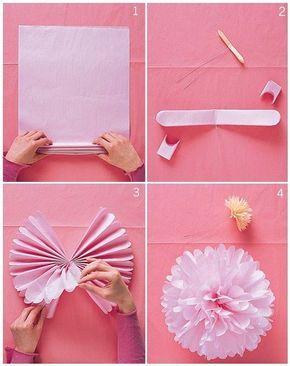 Beste Bloemen vouwen - Doe het zelf en knutselen, Handwerk en Feest diy OV-45
