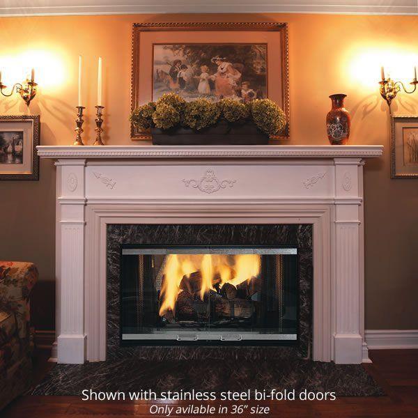 Majestic Designer 36 See Through Wood Burning Fireplace Wood