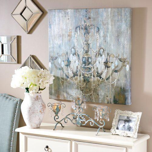Chandelier wall art decor ideas