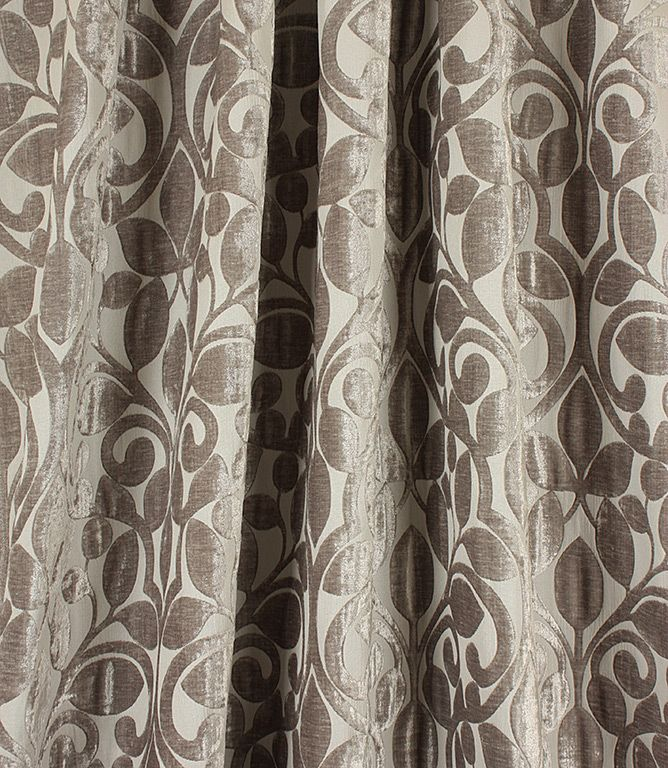 Ishfahan Silver Curtains Fabric Upholstery