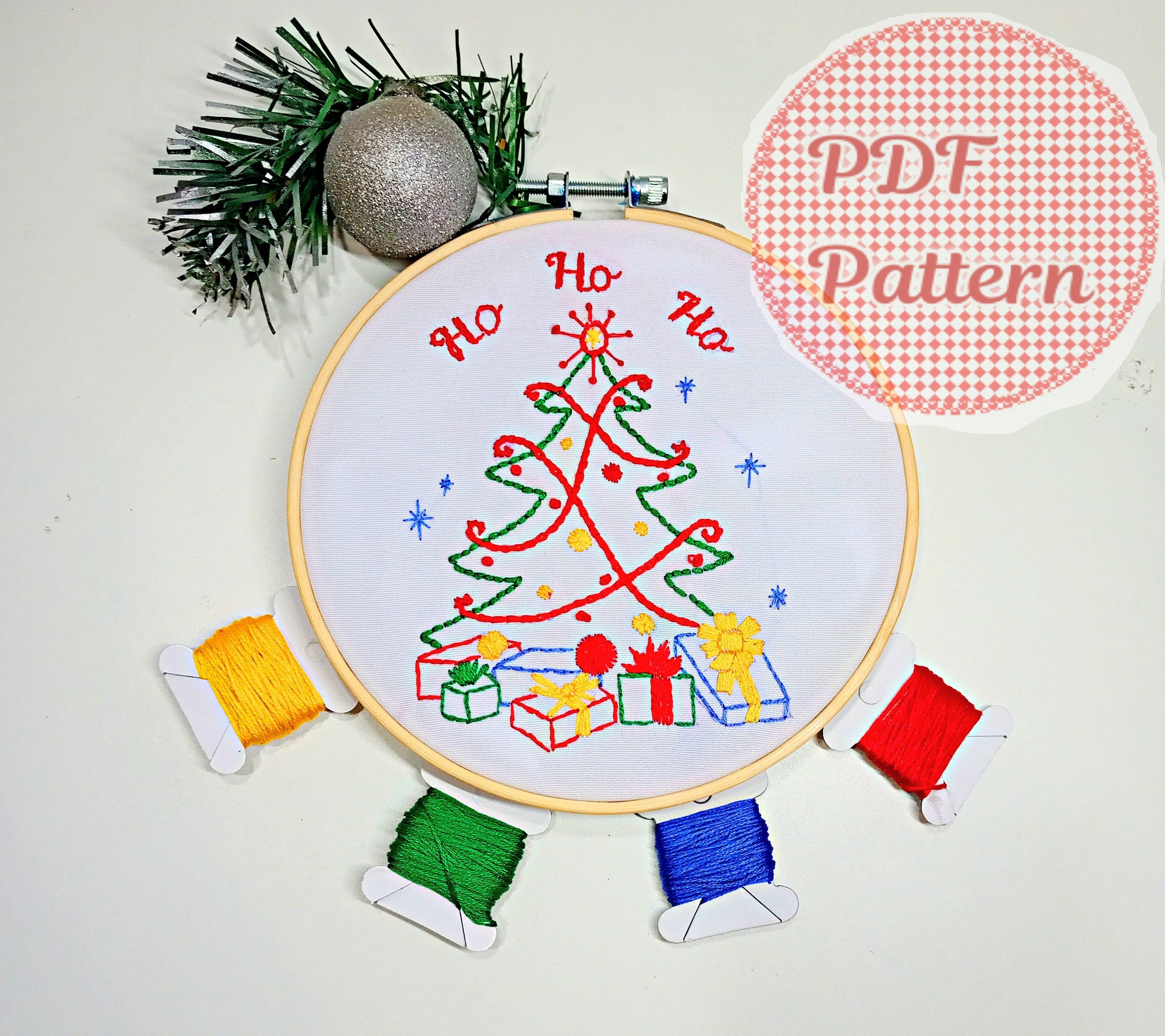 Christmas Tree Hand Embroidery Design Pattern Pdf Diy Etsy In 2020 Hand Embroidery Design Patterns Hand Embroidery Design Embroidery Designs