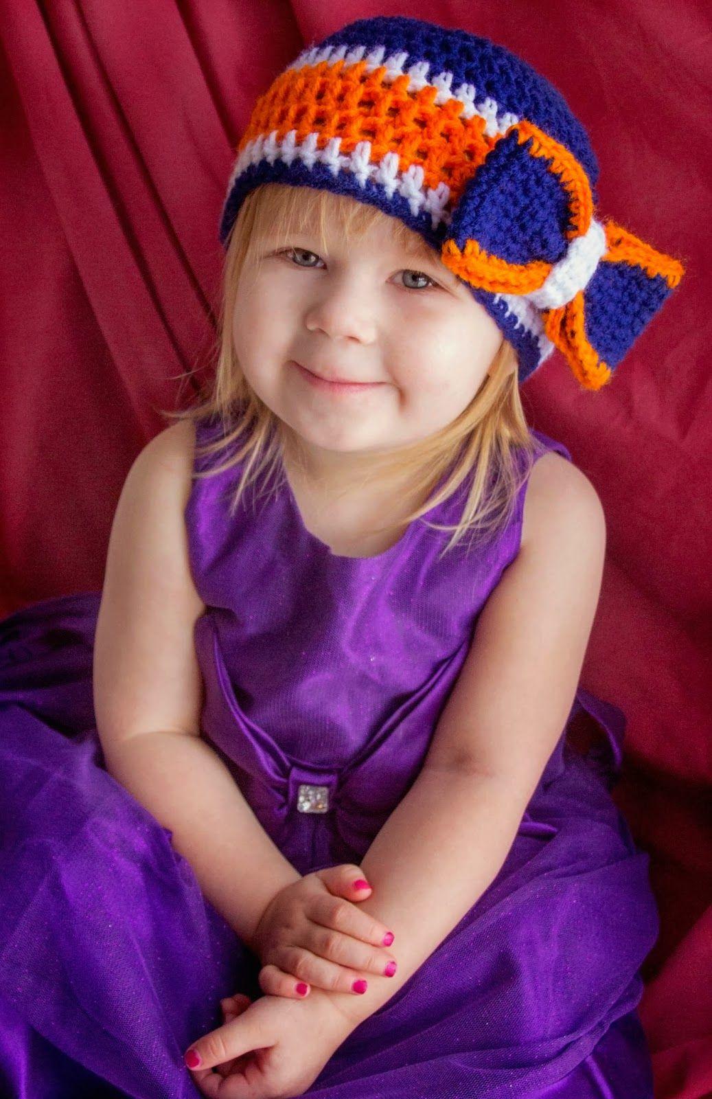 Manda Nicole\'s Crochet Patterns: Broncos Bow Beanie | My hobby is ...