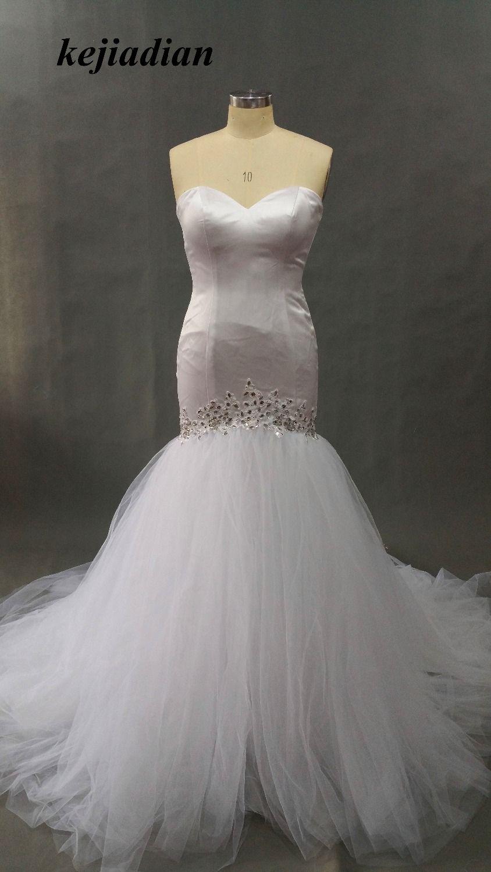 Click to buy ucuc trouwjurken fashion arab mermaid wedding
