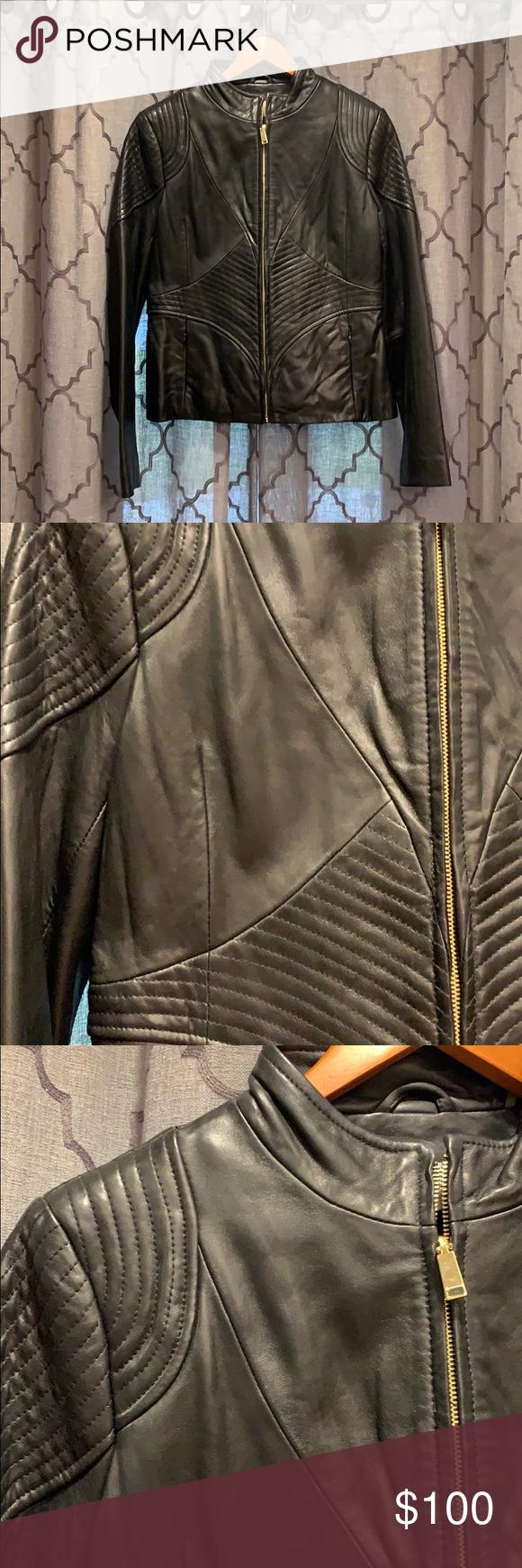 Women S T Tahari Leather Jacket Leather Jackets Women Leather Jacket Black Women [ 1740 x 580 Pixel ]
