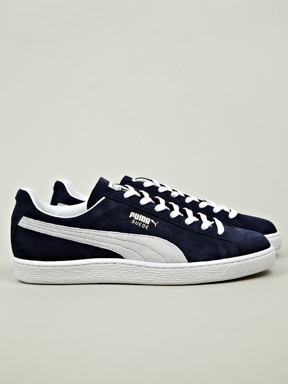 Puma Men's Made in Japan Suede Classic Sneaker in blue at oki-ni