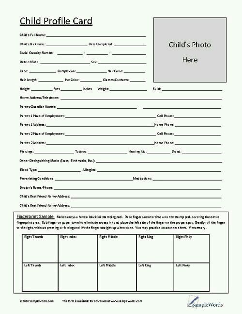 Would your childu0027s babysitter, day care center or temporary - medical release form for child